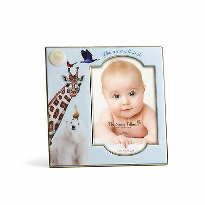"""YOU ARE A MIRACLE Baby 7"""" Photo Picture Frame  Nancy Tillman Giraffe Bear New"""