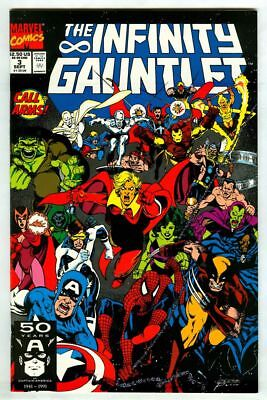 INFINITY GAUNTLET #3 (1991) Avengers! THANOS! First Print! High Grade Key Issue!