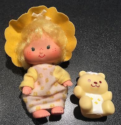 Vintage Strawberry Shortcake Butter Cookie Doll & Pet Jelly Bear AGC 1982 Kenner