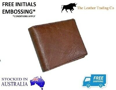 Thin Vintage Men's Leather Brown Leather Wallet - Bifold - Buffalo Leather