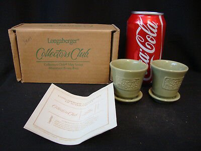 Longaberger Collectors Club May Series Miniature Peony Pots - New in Box