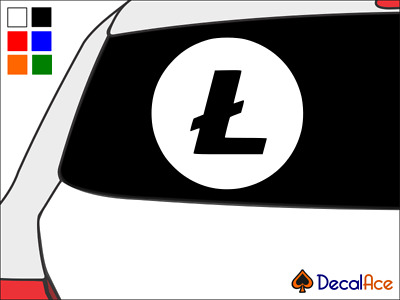 Litecoin Logo Cryptocurrency Vinyl Decal Car Wall Sticker CHOOSE SIZE COLOR