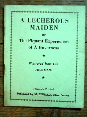 TIJUANA BIBLE A Lecherous Maiden RISQUE BOOK Illustrated from Life