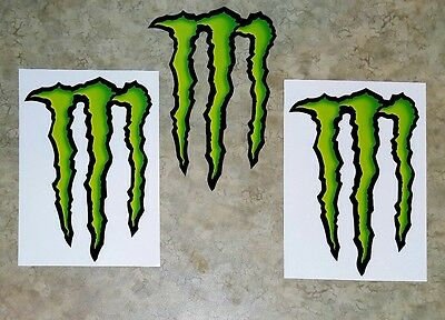 """Monster Energy Drink SALE DECAL STICKER 5"""" x 3.75"""" lot of 2, Buy more Save more!"""