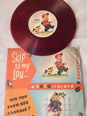1949 Kiddie Parade VOCO RECORD with Skip to My Lou and Did You Ever See Lassie