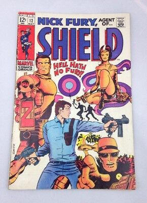 Nick Fury, Agent of Shield Vol 1 #12 1969 Marvel. Excellent Condition! Ship FAST
