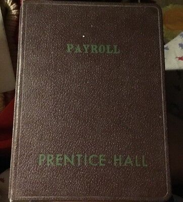 Vintage Antique PH PRENTICE-HALL Payroll Journal Unwritten Blank Book