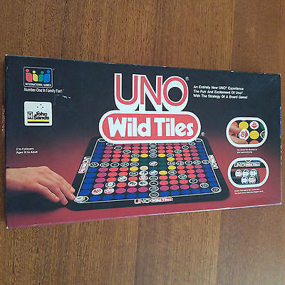 Uno Wild Tiles Board Game 1983 Complete