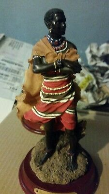 "African Legacy Collection ""Warrior Pride"" Samburu Native & STALKING PREY 5 1/4"""