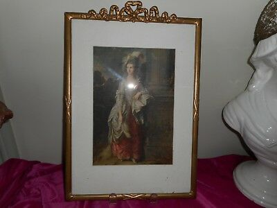 Beautiful antique print in antique frame