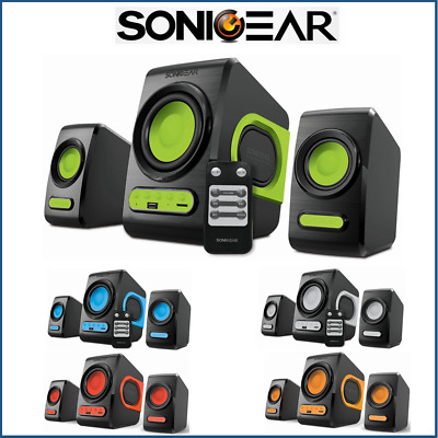 Computer Speakers SonicGear QuatroV USB FM Radio PC Speakers Subwoofer Bluetooth