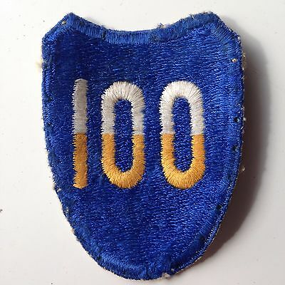 WW2 US ARMY 100th INFANTRY DIVISION CUT EDGE PATCH NO GLOW