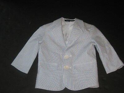 Baby Boy 18 Months Blue & White Sport Coat Suit Jacket Blazer