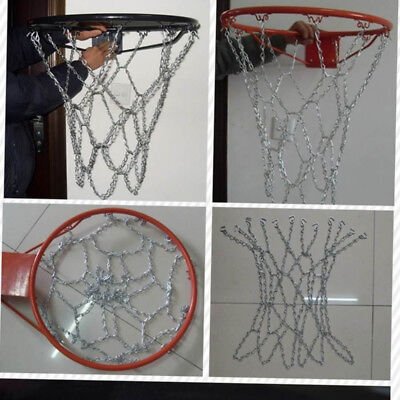Basketball Iron Net Netting Chain Mesh Goal Hoop 12 Loops Replacement AU Stock