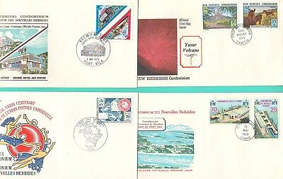 NEW HEBRIDES (English) - Now VANUATU -  FOUR  FIRST DAY COVERS  FROM THE 1970's