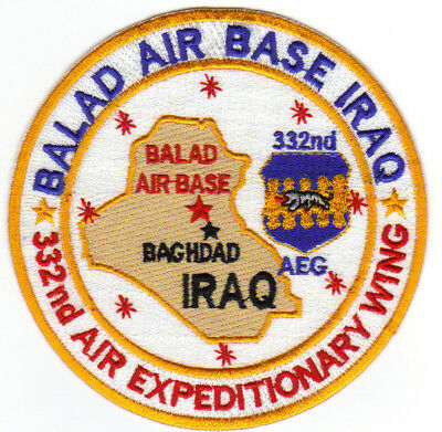 USAF AFB PATCH, BALAD AIR BASE IRAQ, 332nd AIR EXPIDITIONARY WING        Y