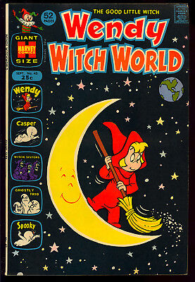Wendy Witch World #45 Very Nice Harvey File Copy Giant 1972 FN+