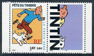 Stamp / Timbre France Neuf N° 3303 ** + Vignette / Tintin / Issus De Carnet