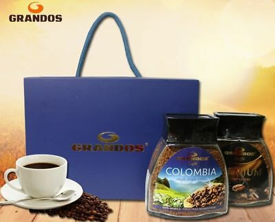 GRANDOS CAFE COLOMBIA ARABICA + PREMIUM Coffee INSTANT Germary Gift Set 100g _es