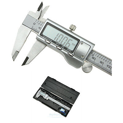 "6"" 150mm Stainless Steel Electronic Digital Vernier Caliper Micrometer Guage LCD"