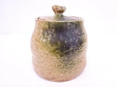 3446612: Japanese Tea Ceremony Ki-Seto Water Jar / Mizusashi / Artisan Work