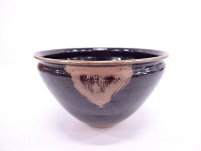 3445790: Japanese Tea Ceremony / Tea Bowl Gold Rim Tenmoku  Chawan