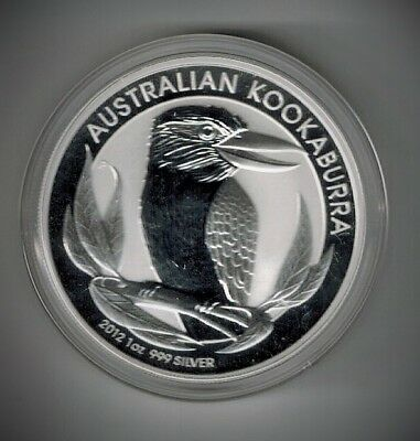 2012 Silver Kookaburra 1oz .999 HIGH RELIEF Australian Coin NO RESERVE!!!
