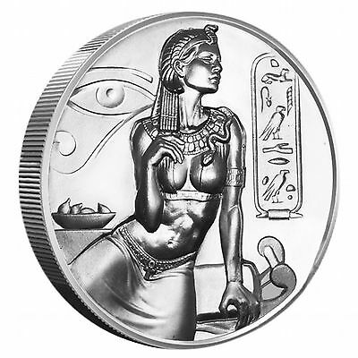 Cleopatra 2 oz UH Relief .999 Silver Round Only 38,767 Minted (Egyptian Gods) #3
