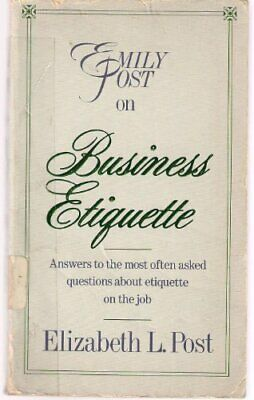 Emily Post on Business Etiquette by Post, Elizabeth L. Paperback Book The Cheap