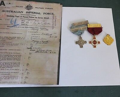 Set Of Three Nsw Rail Way Ambulance Corps Medals 1 Silver Two 9Ct Gold H.hicks