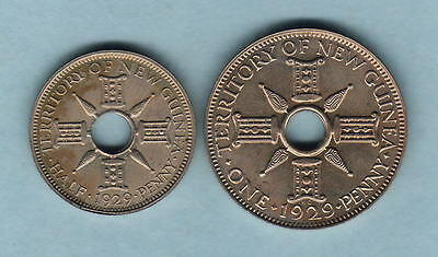 New Guinea.. 1929 Halfpenny & Penny - Proof Pair...  FDC