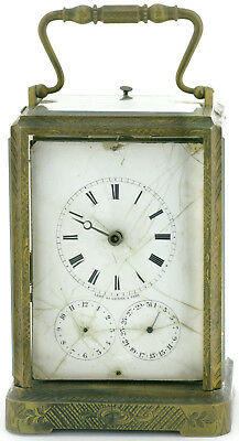 Lamy et Lacroix a Paris Reiseuhr Carriage Clock Bronze mit Repetition-Schlagwerk