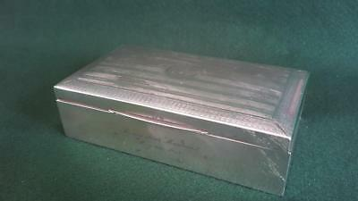 Lovely Hallmarked B'ham 1914 Sterling Silver Cigarette Table Box