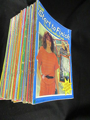 59 Issues Of Start To Finish: Marshall Cavendish Needlecraft Guides