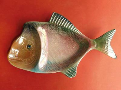 Gorgeous Wembley Lustre Ware Australian Pottery Red Snapper Serving Dish c1950s