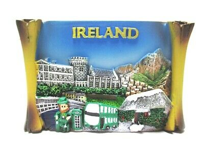 Irland Magnet Collage Leprechaum Lucky Man Flagge Poly Souvenir Great Britain