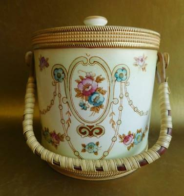 Superb early Crown Devon SF&Co Pottery Biscuit Barrel Aesthetic Movement 1890s