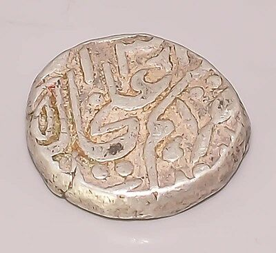 I28 1700 Ad Mughal Empire Of India Ethnic Urdu 925 Sterling Silver Coin