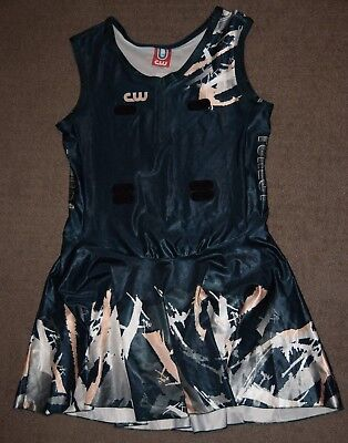 Netball Bodysuit Dress, Size 20, Green and White, Forest
