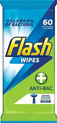 Flash Strong Weave Anti Bacterial Cleaning Wipes Pack Of 60