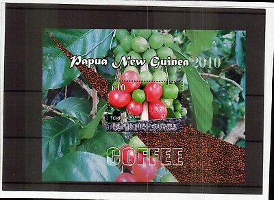 M1448sbs Papua New Guinea 2010 Coffee Beans k10 MUH Mini Sheet
