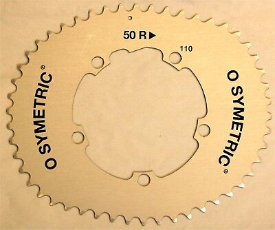 Osymetric single outer chainring - Silver, 50R, 110BCD