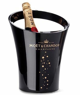 Moet & Chandon Limited Jean Marc Gady Edition Black Acrylic Ice Bucket New