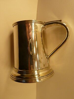 Silver Tankard engraved with Acorn VR37 half pint