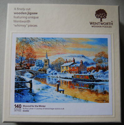 """WENTWORTH Wooden Puzzles """"Moored for the Winter"""""""