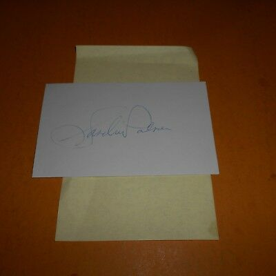 Sandra Palmer is an American professional golfer Hand Signed Index Card