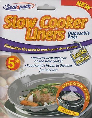 Sealapack Slow Cooker Liners 5 Bags For Round & Oval Slow Cookers No Mess Bags