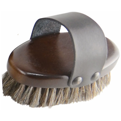 HySHINE Deluxe Horse Hair Wooden Body Brush - Small