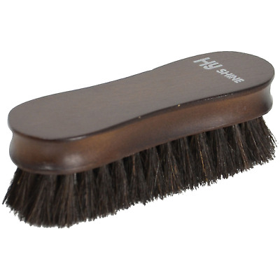 HySHINE Deluxe Wooden Face Brush with Horse Hair