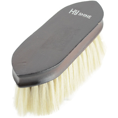 HySHINE Deluxe Goat Hair Wooden Dandy Brush